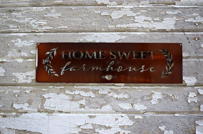 Home Sweet Farmhouse Metal Art