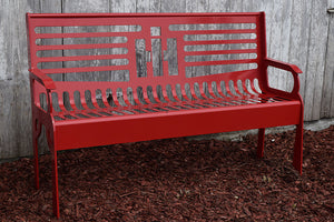 International Harvester IH steel bench