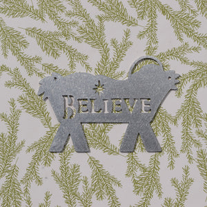 Jesus Crib Believe Christmas Ornament
