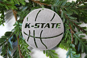 K-State Basketball Christmas Ornament