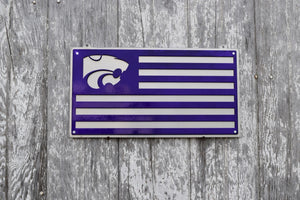 K-State Power Cat U.S. Flag