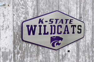 K-State Wildcats Hexagon Metal Art