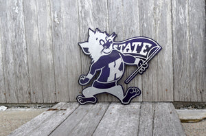 K-State Willie Wildcat Metal Art