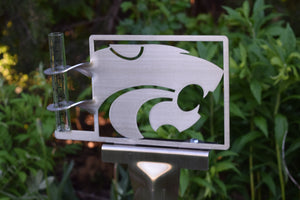 Kansas State Power Cat Rain Gauge