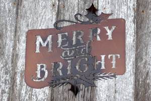 Merry Bright Metal Art