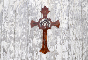 Nativity Cross Metal Art