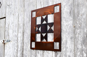 Ohio Log Cabin Solid Quilt Block