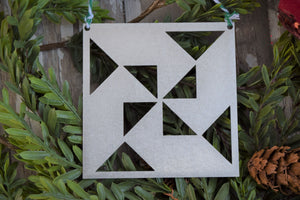 Pinwheel Quilt Block Ornament