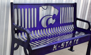 K-State Power Cat steel bench