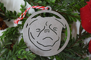 Pug Dog Christmas Ornament