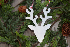 Reindeer Silhouette Christmas Ornament