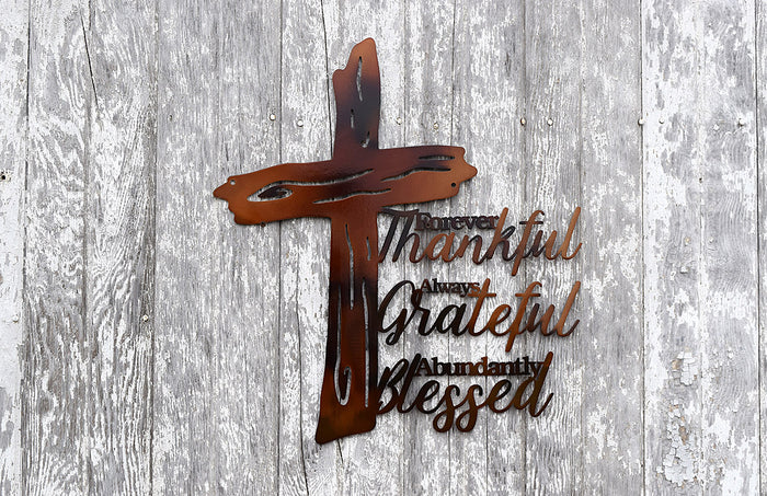 Rugged Cross Thankful Grateful Blessed