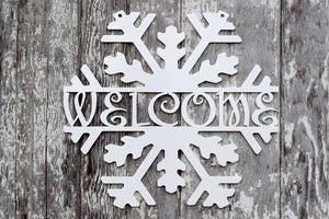 Snowflake Welcome Metal Art