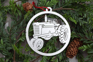 Super M Farmall Tractor Ornament