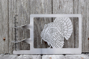 Turkey Rain Gauge holder cut from stainless steel