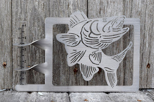 Walley Fish Rain Gauge holder cut from stainless steel