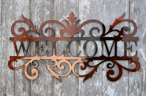 Welcome Scroll Metal Art