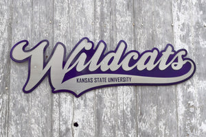 Kansas State University Script Wildcats Sign