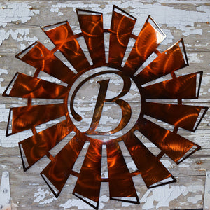 Windmill Monogram Metal Art