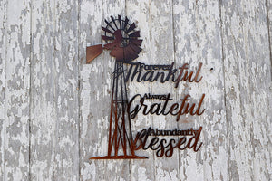 Windmill Thankful Grateful Blessed