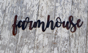 Farmhouse Script Metal Art