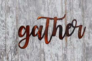 Gather Script Metal Art