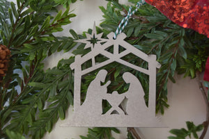 Manger Star Christmas Ornament