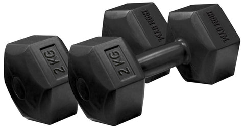 Iron Gym - 2 kg x 2 Fixed Hex Dumbbells, Pair