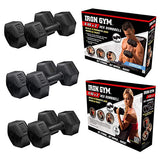 Iron Gym - 6 kg x 2 Fixed Hex Dumbbells, Pair