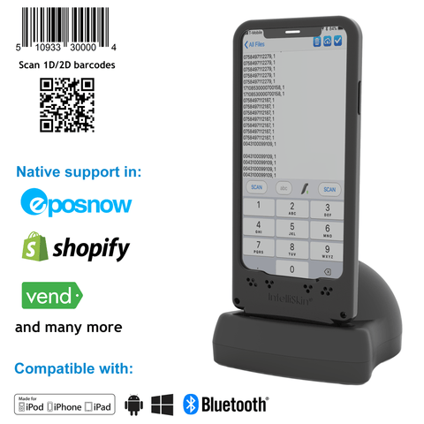 DuraSled DS860, Universal Barcode Scanning Sled and Passport, OCR, Travel ID, Dot Code Reader - iPhone