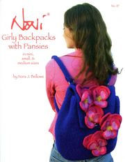 0117 - Girly Backpacks with Pansies