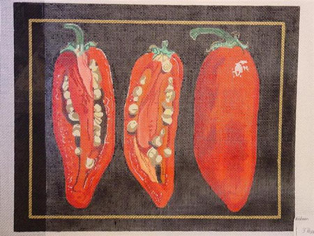 3 Peppers Needlepoint 13ct.