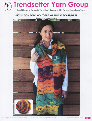 5901-D Tilting Blocks Scarf/Wrap