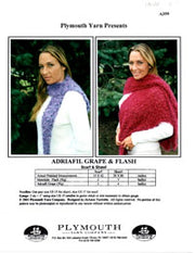 A399 Adriafil Grape & Flash Scarf & Shawl