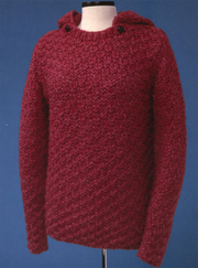 Box Stitch Pullover with Detachable Hood  139