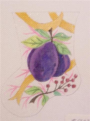 Christmas Plum Mini Stocking