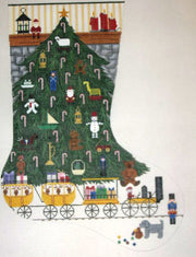 Christmas Tree w/ Train Stocking