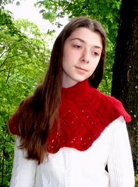 Crimson Cowl by BadCatDesigns