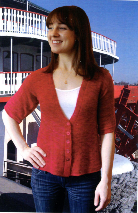E-Z V-Neck Cardigan to Knit    K2.45