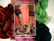 Fairisle Boot Toppers Kit (Spruce)