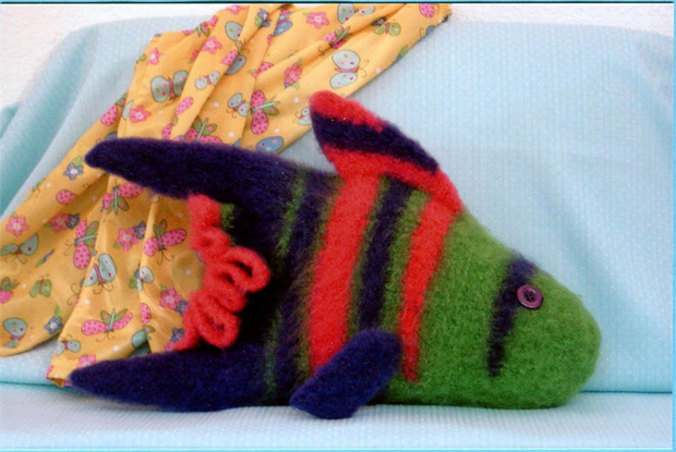 Felted Fish Pajama Bag & Pillow P- 41