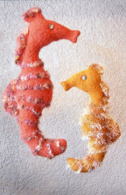 Felted Seahorse P- 44