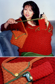 Fiber Trends 106LC A Trio Of Crocheted Bags