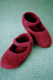 Fiber Trends AC-66 Crocheted Felted Ballet Slippers
