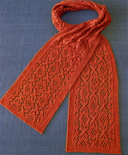Fiber Trends AC-86 Estonian Medallion Lace Scarf