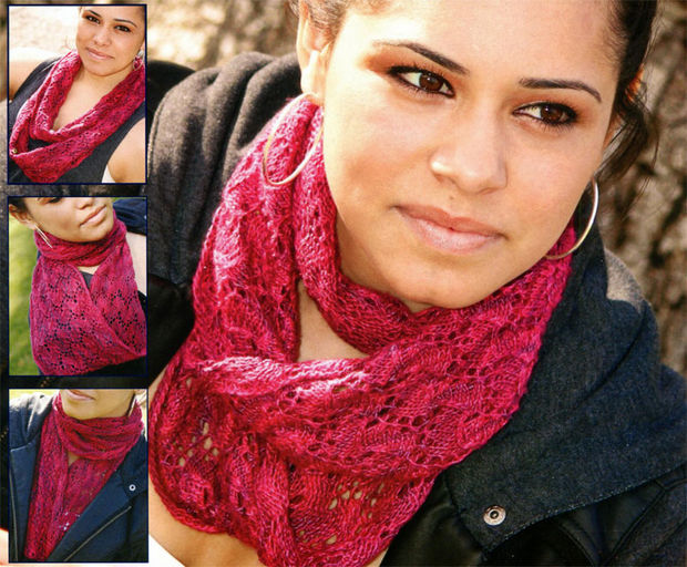 Fiber Trends AC-93 Climbing Roses Infinity Scarf