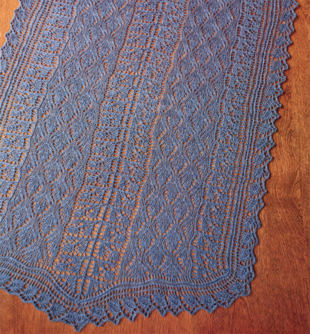 Fiber Trends S-2022 Berry Blue-tiful Summer Shawl