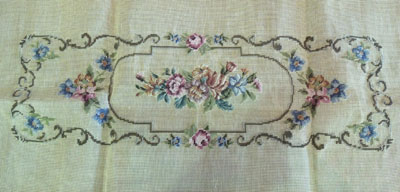 Four Wives C605 Floral Bench