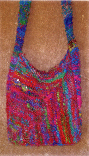 Frabjous Fibers Mitered Square Bag