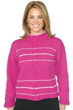 Galway Chunky Striped Cabled Pullover P525
